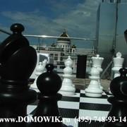 Оформление напольными шахматами (парковые КШ-25) фото