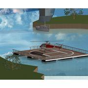 Вертолётная площадка на воде фото