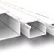 Кабель-канал 20х10х2000мм (белый) с двойным замком фото