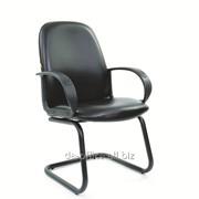 Конференц Chairman СН279 V низкая спинка, кожзам черный, 97573 фото