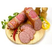 Колбаса варёно-копчёная Сервелат Волковысский премиум, салями высший сорт фото