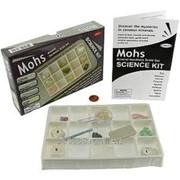 Шкала Мооса - набор эталонных минералов из 9 шт.
