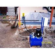 Гидравлический перфорационный станок для труб 40х40х2мм фото