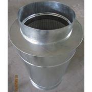 Шумоглушитель круглый Ф355 мм, L=900 мм
