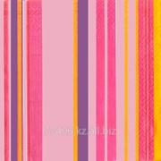 Салфетка для декупажа Фон-полосы в розовом цвете фото