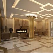 Дизайн интерьера фойе апарт-отеля фото
