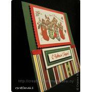 Новогодная открытка (полоска) фото