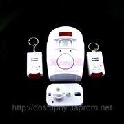 Охранная сигнализация звуковая c датчиком движения для дома дачи гаража автономная фото