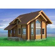 """Загородный деревянный дом из качественных материалов. Строительство """"под ключ"""". фото"""