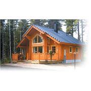 Строительство загородных домов из дерева (клееный брус). Дома из Финляндии. Архитектурное строительство. фото