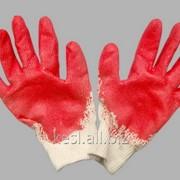 Перчатки Х/Б Супер обрезинка (5/200) фото