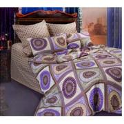 Комплект постельного белья Сова и Жаворонок Бухара, семейное фото
