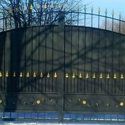 Ворота уличные фото
