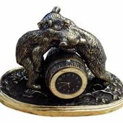Часы декоративные из бронзы Мишки фото