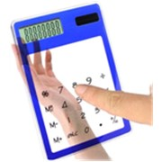 Калькулятор сенсорный прозрачный фото