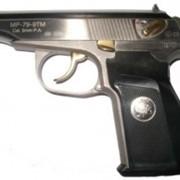 Травматический пистолет МР-80-13Т NICKEL ГЕРБ фото