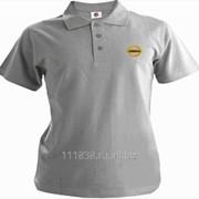 Рубашка поло Nissan серая вышивка золото фото