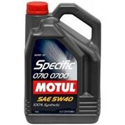 Моторное масло MOTUL Specific 0710 - 0700 5w40 , 5 л. синтетика фото