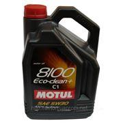 Моторное масло MOTUL 8100 ECO-Clean 5w30 , 5 л. синтетика фото