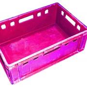 Ящик универсальный сплошной №4 Е-2 черн.(первый.сорт)-45л. фото