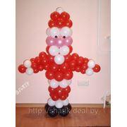 Дед мороз из шаров. арт.188 фото