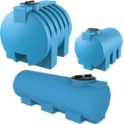 Горизонтальные пластиковые емкости для воды 300 - 5 000 л