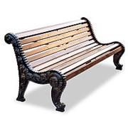 """Скамейка чугунная """"Городская роща"""", кресло, 0,6м фото"""