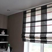 Римские шторы, прозрачные и плотные ткани фото