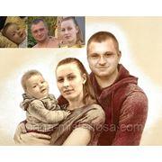 Фотоколлаж Эффект рисунка фото