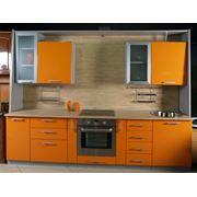 Кухня прямая Альфа с профилем МДФ серебро фото