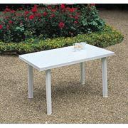 Аренда пластикового стола прямоугольного 125*75 см прокат пластиковой мебели фото