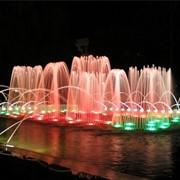 Плавающие фонтаны. фото