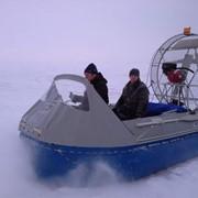 На воздушной подушке лодка надувная СВП Бриз 380 фото