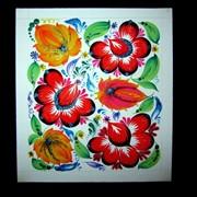 Петриковская роспись цветы фото