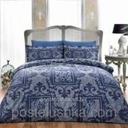 Комплект постельного белья Tac Delux GRANT синий фото