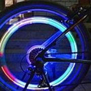 Светящиеся колпачки на ниппель Череп разноцветные фото