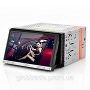 "Double DIN 7 "" Car DVD Player - моторизованная панель, сенсорный экран, GPS фото"