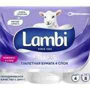 Lambi Туалетная бумага Deluxe, - 6 рул/ уп, 150 л/рул, 4 слоя фото