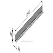 Дистанционная планка к стене и к потолку 400 мм., арт. ДП А35L400S20 фото