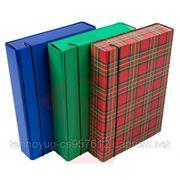 Папка-короб на резинке А4 шотландка фото