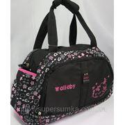 Cпортивная сумка женская для фитнеса, тренировок Wallaby Артикул: DK738 (14 л.) черный