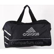 Сумка спортивная Adidas черная 26х33х65х24 8058 /0-511 фото