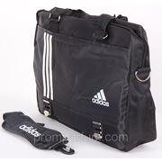 Сумка спортивная Adidas черная 10х28х32х14 8293black /0-59 фото