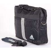 Сумка спортивная Adidas черная 10х28х37х14 8296black /0-59 фото