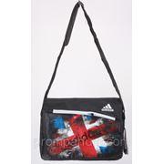 Сумка спортивная Adidas цвет черный 10х27х34 8937black /0-07 фото