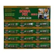 Клей SOMA FIX супер клей, 3 гр. 808D на блистере 12 шт
