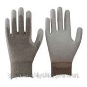 Carbon ESD перчатки с PU покрытием ладони фото