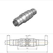 Сильфонное компенсирующее устройство стальное в оцинкованной трубе-оболочке dу=159 мм, s=4,5 мм, L=2000 мм фото