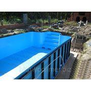 Чаша для бассейна прямоугольная фото