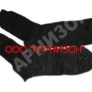 Носки х/б черного цвета фото